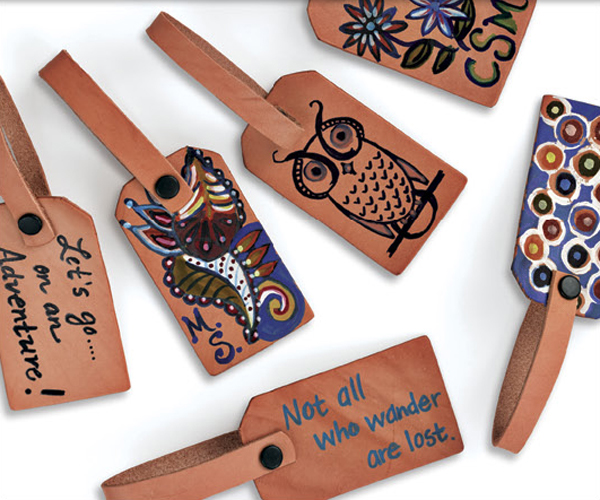 Painted Personalized Luggage Tag