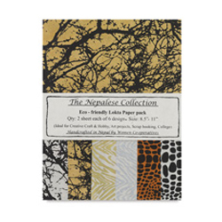 The Nepalese Collection Lokta Paper Packs