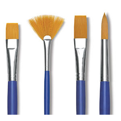 Blick Scholastic Golden Taklon Brushes