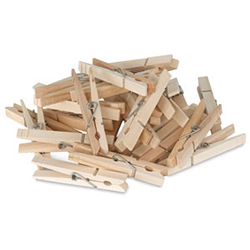 Creativity Street Wooden Spring Clothespins
