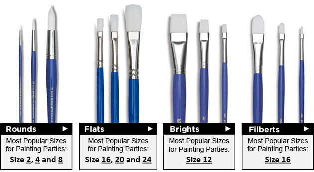 Blick Wonder White Brushes