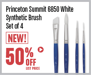 Princeton Summit 6850 White Synthetic Brush Set