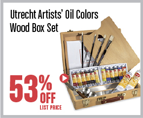 Utrecht Artists Oil Colors Wood Box Set