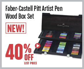 Faber Castell Pitt Pen Wood Box