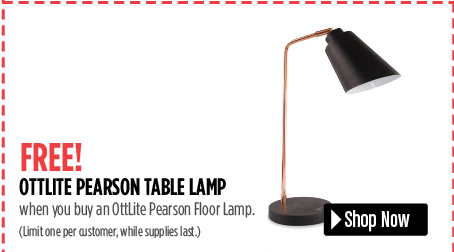 free ottlite pearson table lamp when you buy the floor lamp.