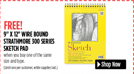 Strathmore 300 Series 9 x 12 Sketch Pad when you buy one same size