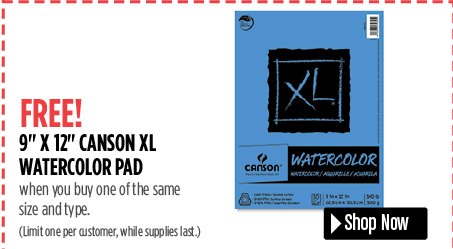 Canson XL 9 x 12 Watercolor Pad $5