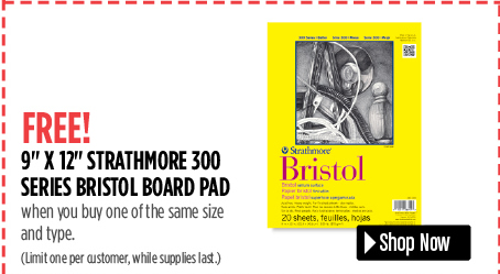 free bristol board pad when you buy one the same size