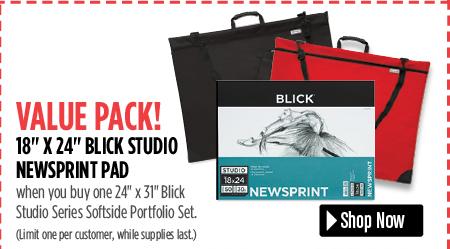 value pack when you buy a portfolio set you get a newsprint pad