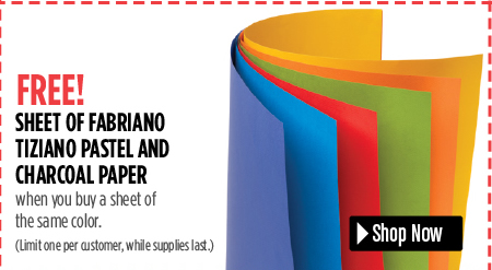 free sheet of pastel or charcoal paper when you buy one