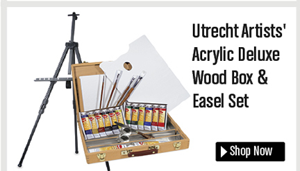 Utrecht Artists' Deluxe Wood Box & Easel Kit