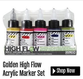 golden high flow acrylic marker set