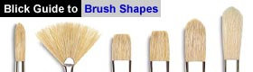 Blick Guide to Brush Shapes