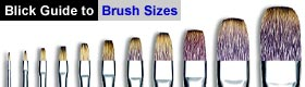 Blick Guide to Brush Sizes