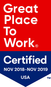 Great place to work Certified Nov 2018-Nov 2019 USA. Trademark