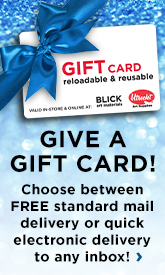 Not sure what to give? Give a Gift Card! Choose between Free standard mail delivery or quick electronic delivery to any inbox.