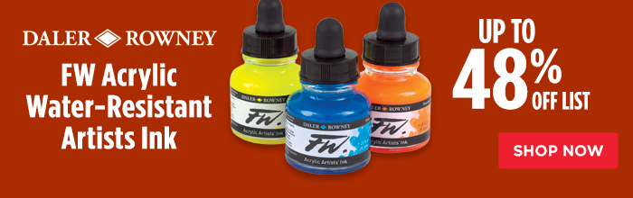 Featured Product: Daler-Rowney FW Acrylic Water-Resistant Artists Ink