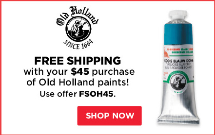 Free Shipping with your $45 purchase of Old Holland paints!