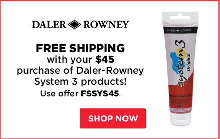 Free Shipping with your $45 purchase of Daler-Rowney System 3 products!
