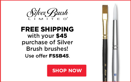 Free Shipping with your $45 purchase of Silver Brush brushes!
