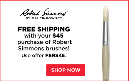 Free Shipping with your $45 purchase of Robert Simmons brushes!