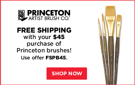 Free Shipping with your $45 purchase of Princeton Brushes!
