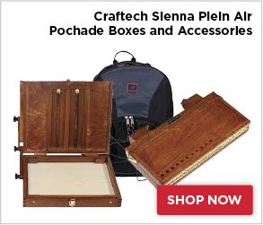Craftech Sienna Plein Air Pochade Boxes and Accessories
