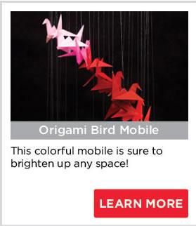 Origami Bird Mobile