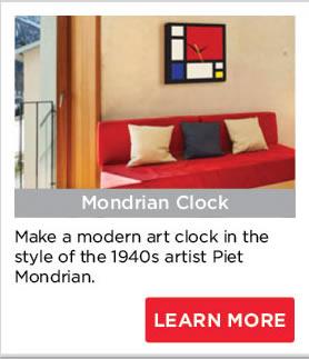 Mondrian Clock