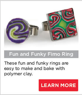 Fun and Funky Fimo Ring