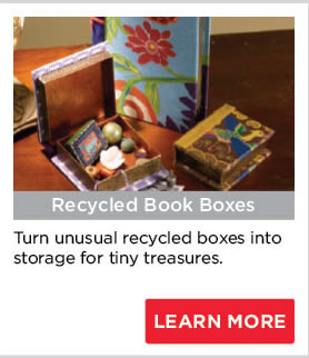 Recycled Book Boxes