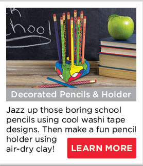 Decorated Pencils and Holder