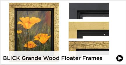Blick Grande Wood Floater Frames