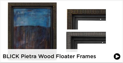 Blick Pietra Wood Floater Frames