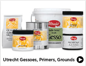 Utrecht Gessoes, Primers, Grounds