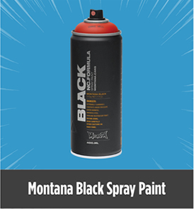 Montana Black Spray Paints