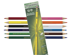 FREE! Prang Duo-Color Colored Pencil Set of 6 when you buy two packs of Dixon Ticonderoga Pencils. (Includes 20305-1010, - 2009, or -1209.)