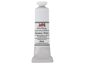FREE! 40 ml Titaniam White when you buy any three tubes of Michael Harding Artists Oil Colours.