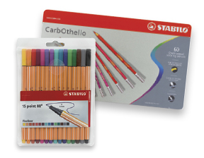 FREE! Stabilo Point 88 Fineliner Pen Wallet Set of 15 when you buy a Stabilo CarbOthello Pastel Pencil Set of 60.