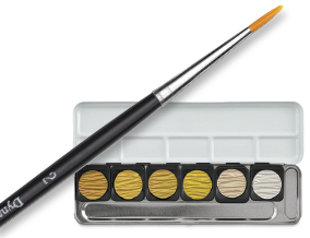 Dynasty Finest Golden Taklon Size 2 Round Brush when you buy a Finetec Artist Mica Watercolors Pearlescent Set of 6.