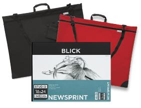 Value Pack! 18 x 24 Blick Studio Newsprint Pad when you buy one 24 x 31 Blick Studio Series Softside Portfolio.