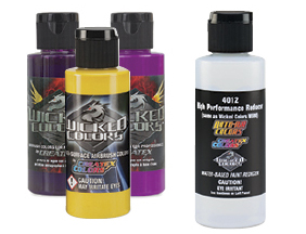 FREE! 2 oz Createx High Performance Reducer when you buy any three Createx Wicked Colors Airbrush Colors.