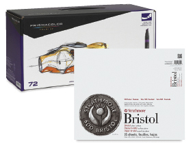 FREE! 14 x 17 Strathmore 500 Series Bristol Pad when you buy a Prismacolor Premier Double-Ended Art Marker Set of 72.