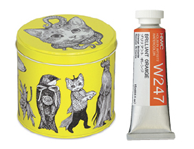 FREE! Yuko Higuchi Collectible Tin when you buy any four 15 ml tubes of Holbein Artists' Watercolor.