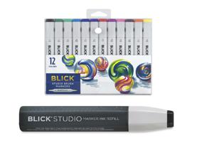Blick Studio Marker Black Refill when you buy a Blick Studio Brush Marker Set of 12.