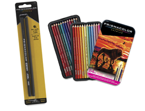 Prismacolor Ebony Pencil Set of 2 when you buy a Prismacolor Premier Colored Pencil Highlighting and Shading Set of 24.