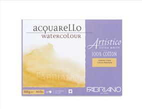 FREE! 5 x 7 Fabriano Artistico Extra White Cold Press Watercolor Block when you buy a 12