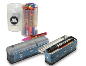 FREE! Molotow Metal Box Car Tin when you buy a Molotow One4All Acrylic Marker Screw Top Set of 20.