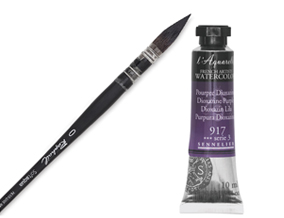 FREE! Raphael Soft Aqua Quill Size 0 Brush when you buy any three tubes of Sennelier French Artists Watercolors.