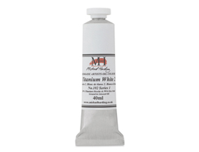 FREE! 40 ml Titanium White No. 2 when you buy $40 worth of Michael Harding Artists' Oil Colors.